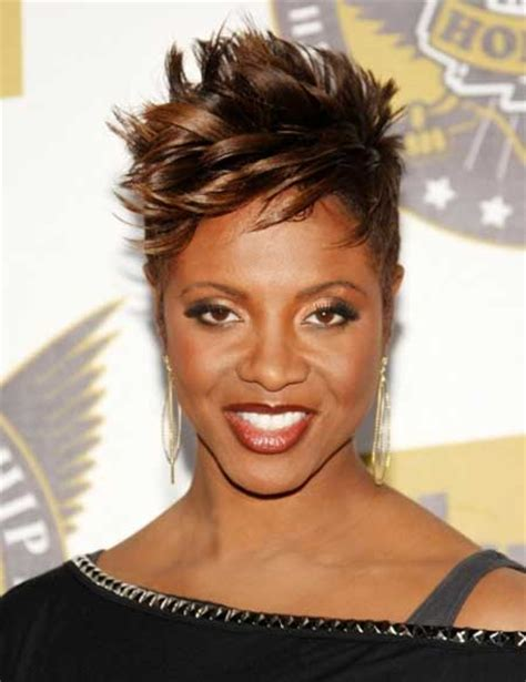 short hairstyles for black women spiked on top small curls in back and sides of hair 25 pictures of short hairstyles for black women short