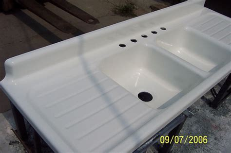 Vintage Porcelain Sinks by Real Porcelain Enamel Coating To Restore Your Drainboard