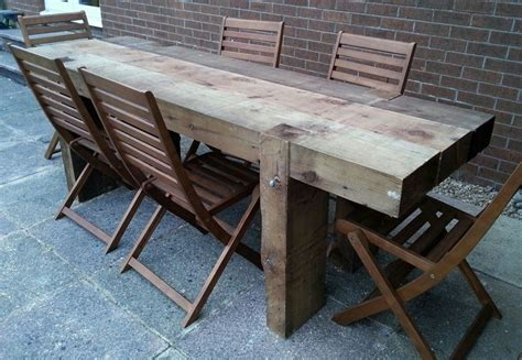 Sleeper Table garden table from 2 4m new railway sleepers