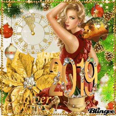 flower happy new year gif happy new year 2019 flower picture 137186097 blingee