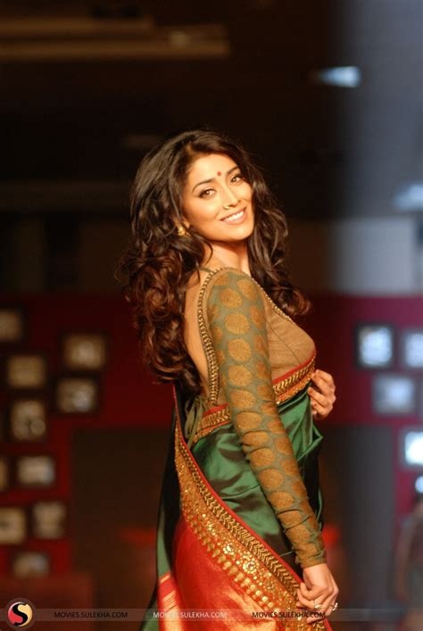 shriya sareeblousefashioncom shriya saran in saree hot pictures stills 1 indian