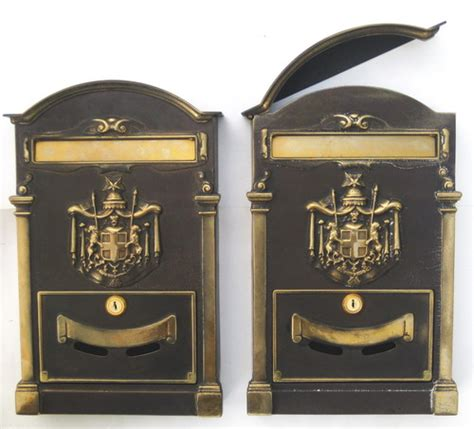 cassetta di sicurezza poste cassetta posta ottone stemma regio 10009 fonderia