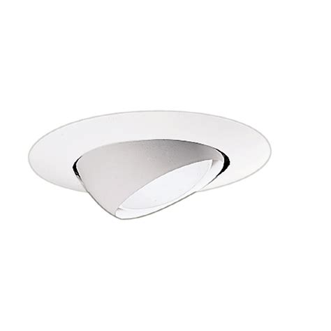 6 recessed lighting eyeball trim shop halo white eyeball recessed light trim fits housing