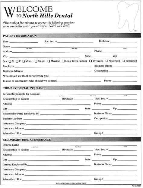 Pin New Registration Form On Pinterest New Patient Questionnaire Template