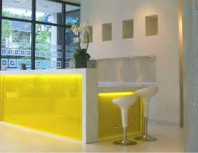Yellow Reception Desk Yellow Ikea Reception Desk Ideas Clinic Ideas Reception Desks Desks And Interiors