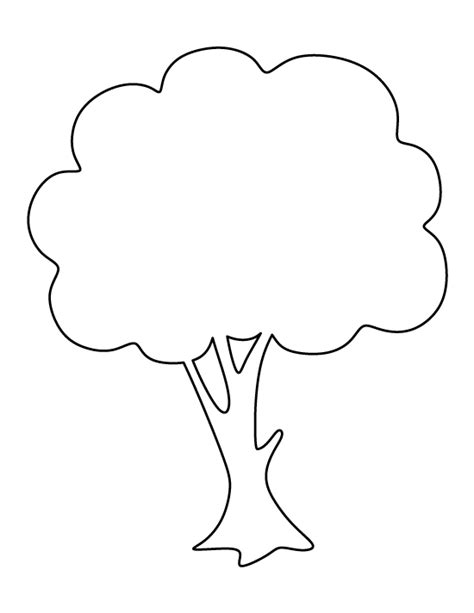 template of tree apple tree pattern use the printable outline for crafts