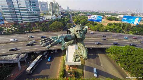 Sewa Drone Jakarta statues of jakarta jasa sewa drone untuk foto udara udara
