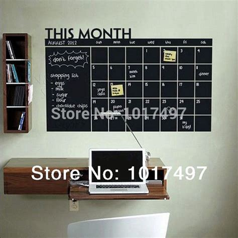 diy chalkboard sticker aliexpress buy diy 56x38cm monthly chalkboard wall
