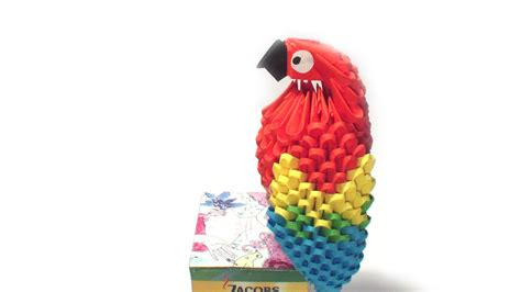 origami 3d parrot tutorial 3d origami parrot tutorial youtube