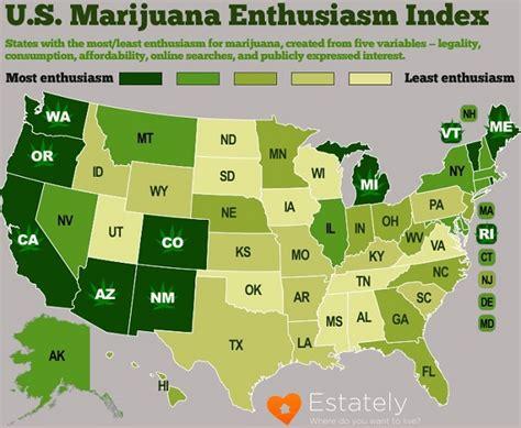medical marijuana in united states map 2016 map u s marijuana enthusiasm index
