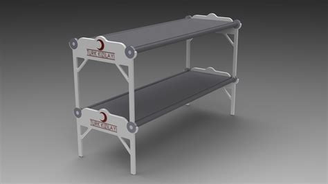 collapsible bunk beds folding bunk bed stl solidworks 3d cad model grabcad