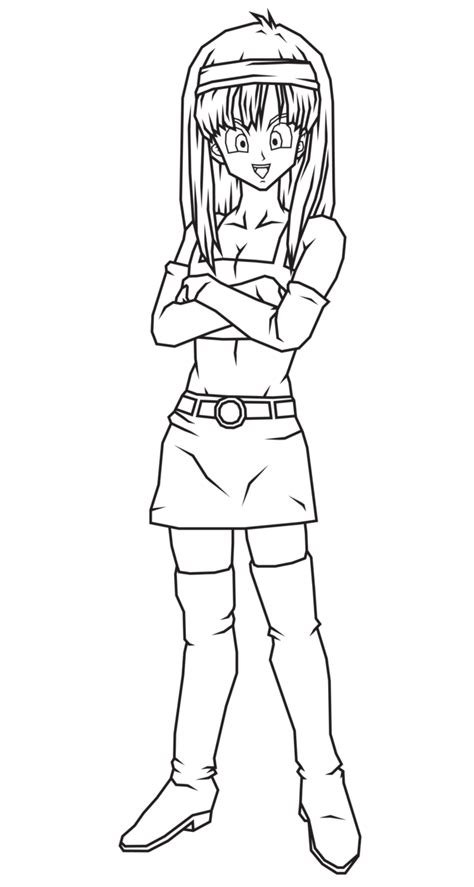 Coloriage Bra La Fille De Bulma 224 Imprimer Coloriage Dessin Anime Dragon Ball Z L