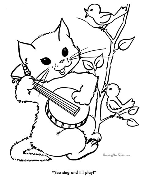 Picture Of A Cat To Color by Cat Sheets To Color