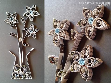 membuat bunga dari kertas koran bekas cara kreatif membuat hiasan kamar dengan barang bekas