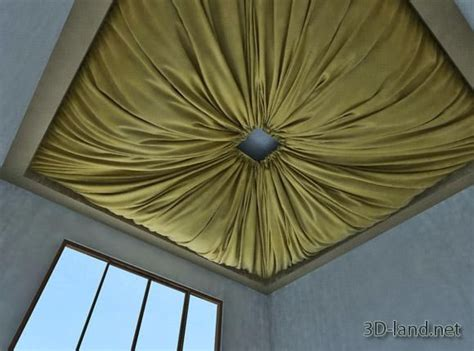 fabric ceiling fabric on the ceiling 3d model 3d land