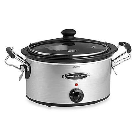 slow cooker bed bath and beyond hamilton beach 174 5 quart stay or go slow cooker bed bath beyond