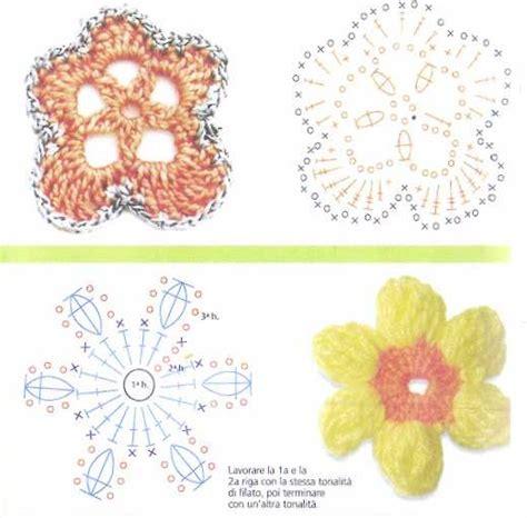 fiori all uncinetto schemi in italiano schemi di fiori con uncinetto 187 3 7