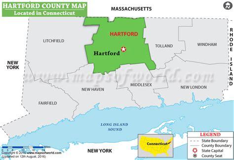 hartford usa map hartford county map connecticut