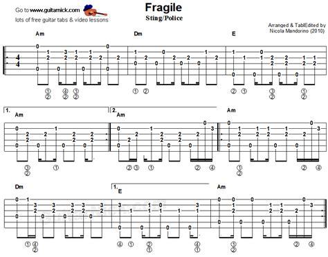fingerstyle arrangement tutorial fragile sting police fingerstyle guitar tab 1 guitar