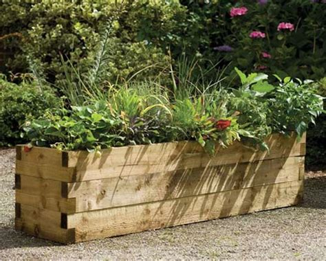 Forest Garden Caledonian Rectangular Raised Bed Planter Raised Bed Planter