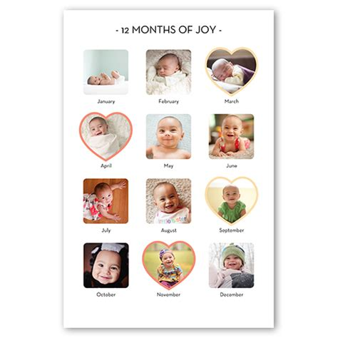 Baby S First Year Shutterfly 12 Month Photo Collage Template