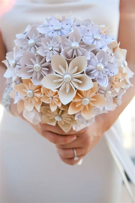 How To Make Paper Flower Bouquet - 17 best ideas about paper wedding bouquets on