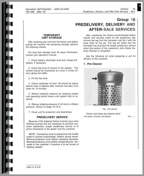 John Deere 5400 Forage Harvester Service Manual
