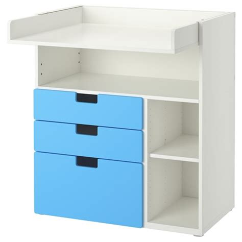 Stuva Changing Table Cabinet Blue 90x79x102 Cm Ikea Changing Table Cabinet