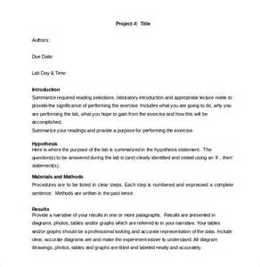 Lab Report Template Word lab report template 26 free word pdf document free