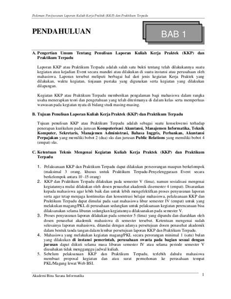 email kkp panduan laporan kkp dan praktikum terpadu