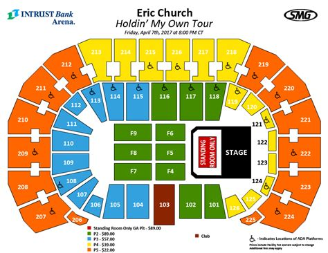 bank arena seating chart seating charts events tickets intrust bank arena