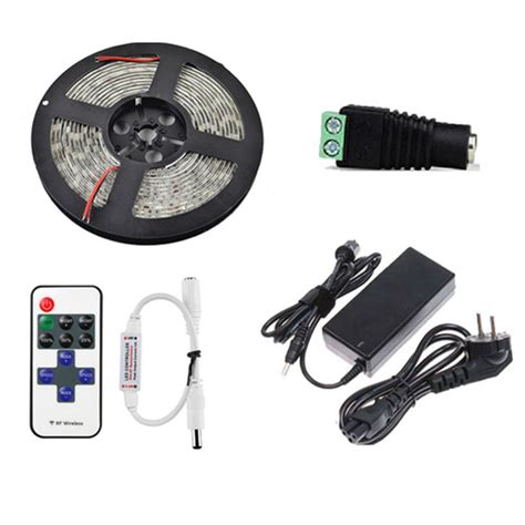 remote control light adapter 5m smd5050 non waterproof led strip light 11 keys remote