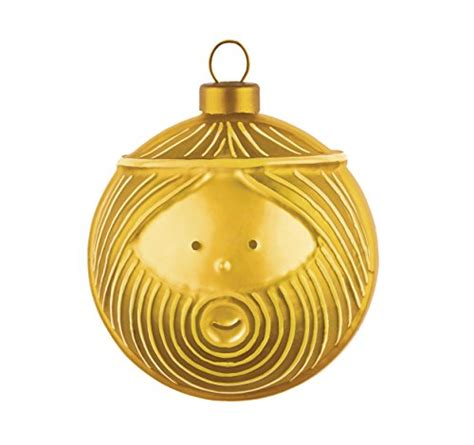 alessi kaffeedose alessi quot giuseppe quot ornament in blown glass gold