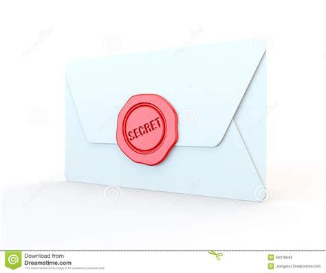 secret letter secret st or wax seal on a letter stock illustration