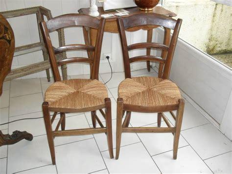 chaises anciennes chaise ancienne bois et paille palmette source cannage