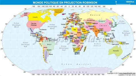 du monde carte politique du monde en projection de robinson