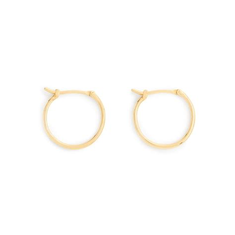j crew 14k gold medium hoop earrings in gold lyst