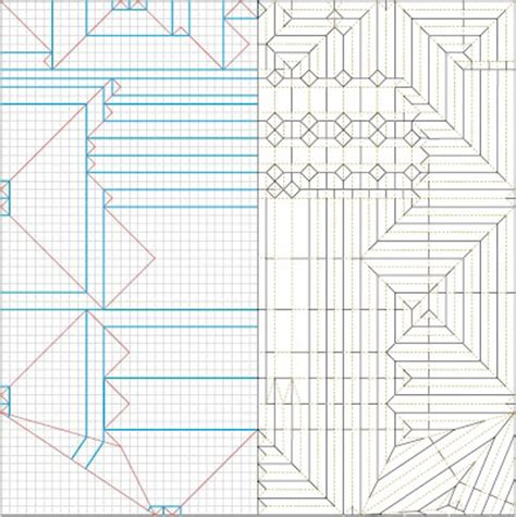 Origami Crease Patterns - origami crease pattern browse patterns
