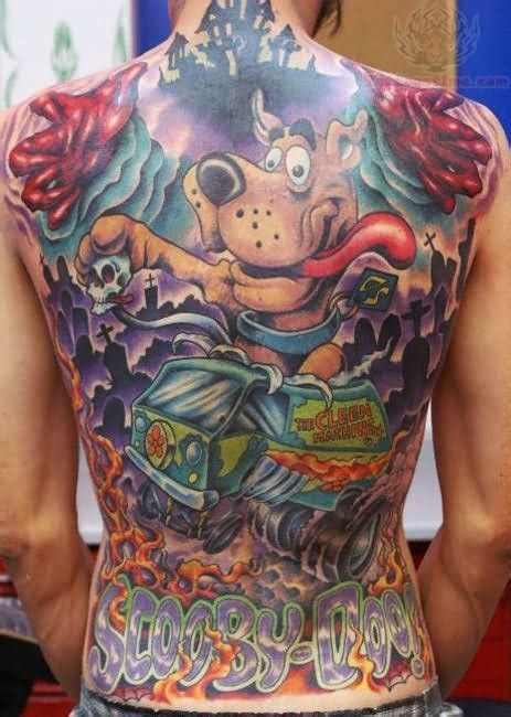 scooby doo tattoo designs colourful scooby doo back tattoomagz