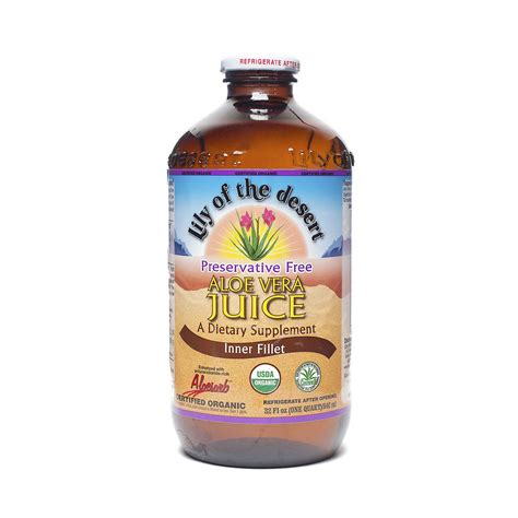 Aloe Vera Juice Detox Balanced Formulation by Of The Desert Preservative Free Aloe Vera Juice
