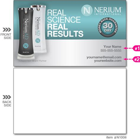 Nerium Business Cards Template by Nerium Store Business Cards Image Collections Card