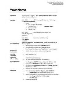 Cv Resume Exle by Cv Resume Exle Of Resume