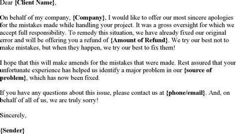 Business Apology Letter Oversight apology letter in business for free tidyform