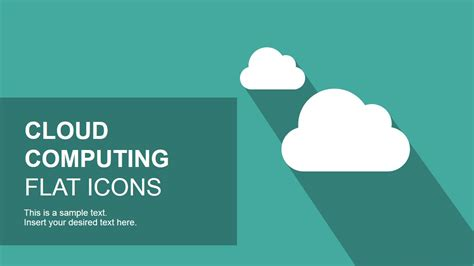 Flat Cloud Computing Powerpoint Icons Slidemodel Cloud Template For Powerpoint