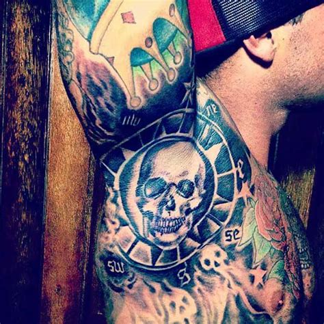 tattoo underarm gallery skull armpit tattoo best tattoo ideas gallery
