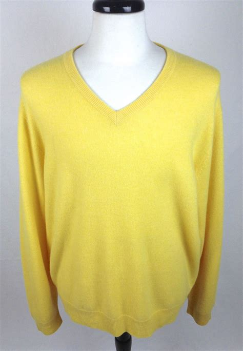 xl sweaters club room sweater xl mens yellow sleeve for sale item 1474117