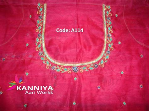 uma pattern works coimbatore simple thread work kanniya aari works pinterest simple