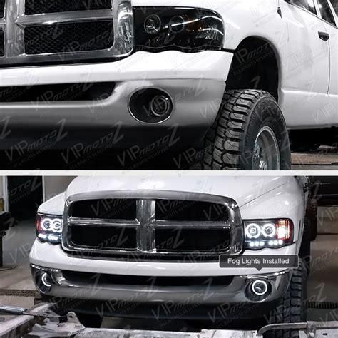 2008 dodge ram 1500 led fog lights 2002 2008 dodge ram 1500 pickup halo projector bumper l