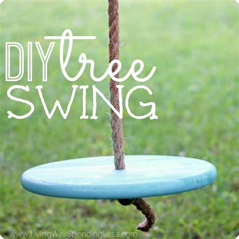 diy tree swing diy tree swing living well spending less 174