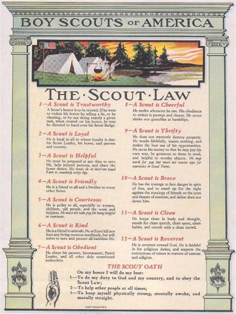 printable h s law poster scout law poster www pixshark com images galleries